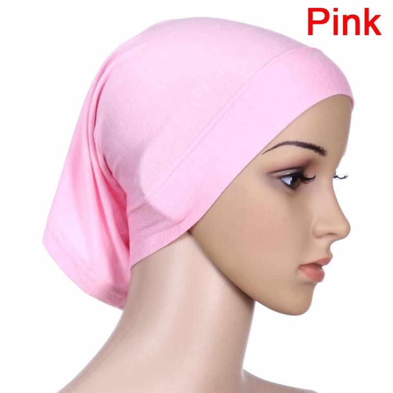 30x24cm 9 Colori 1PCS Elastico Regolabile Musulmano Islamico Arabo Tubo Hijab Velo Abito Abaya Tappi Interni cappelli Modale Stretch