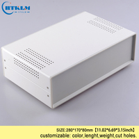 DIY junction box switch distribution case Custom diy Iron project box for electronic housing instrument box 280*170*80mm