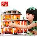 2016 NUEVA Ciudad Banbao serie amigas Me encanta mi casa bloques de construcción para niños juguetes Clásicos Compatible con Legoe amigo