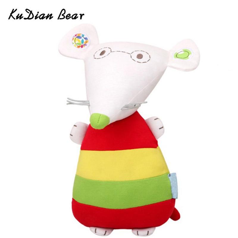 KUDIAN BEAR Cute Plush Mouse Baby Toy Kids Sleeping Accompany Doll Newborn Plush Stuffed Toys Kids Birthday Gift BYF045 PT49