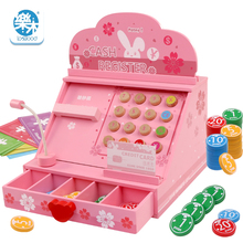 Logwood Wooden children Cash register toys