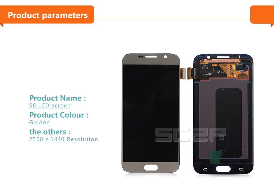 For Samsung Galaxy S6 LCD Display with Touch Screen Digitizer Assembly Replacement G920A G920F G920I G920P