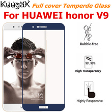 Full cover Tempered Glass For HUAWEI honor V9 8 pro Duke DUK-AL20 black White gold blue screen protective smartphone 5.7 inch 9H
