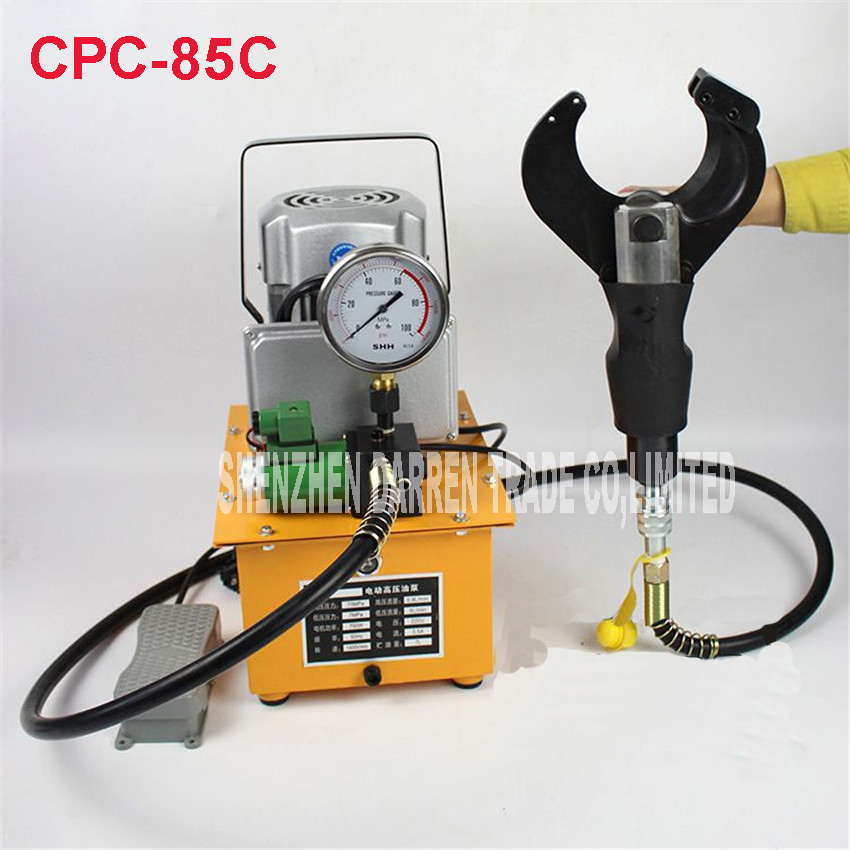 CPC-85C elektrický hydraulický nůž na stříhání řezu 85MM stíněný kabel Elektrické hydraulické nůžky na kabel