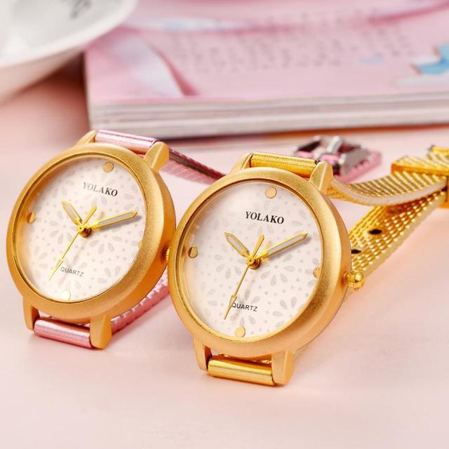 עסקי גבירותיי שעוני יד נירוסטה מזכרות יפה נשים של קוורץ פשוט טמפרמנט אופנתי שעון נשים 2018 # D