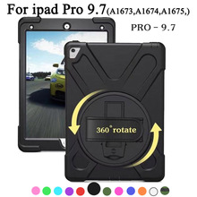 цена на Shockproof Kids Protector Case For iPad Pro 9.7 A1673 A1674 A1675 Heavy Duty Silicone Hard Cover