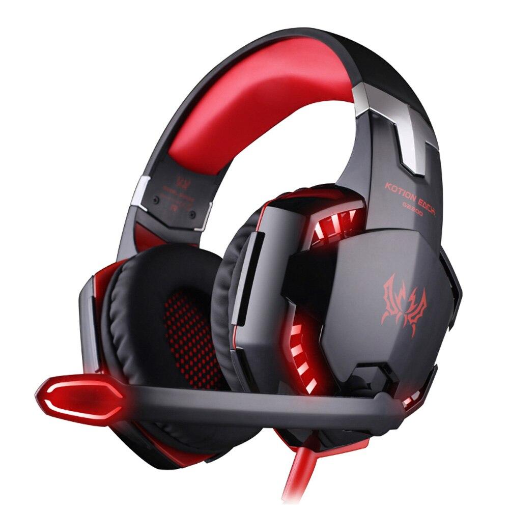 Каждый G2200 профессиональные игровые наушники стерео повязка игры гарнитуры PC Gamer USB7.1 вибрации дыхание светодиодные Mic ...