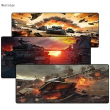купить Mairuig World Of Tank Logo DIY Design Game Large Lock Edge mousepad Size for 30X80CM and 40x90cm LOL CSGO DOTA2 Gaming Mousepads дешево