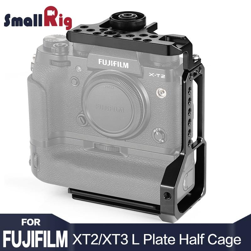 SmallRig XT3 L Piatto di Staffa a L Mezzo Gabbia per Fujifilm X-T2/X-T3 Fotocamera con Battery Grip Con Quick rilascio Arca-Tipo di Piastra 2282