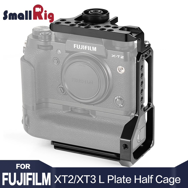 SmallRig XT3 L plaque l-support demi-Cage pour appareil photo Fujifilm X-T2/X-T3 avec poignée de batterie avec fixation rapide plaque de Type Arca 2282