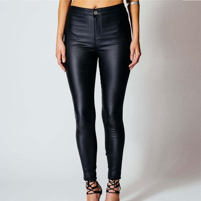 94d9aaec08e8b Maigre Pantalon Pantalon Femmes D'hiver Taille Haute Noir Leggings  Élastique Pantalon Slim Femmes Crayon