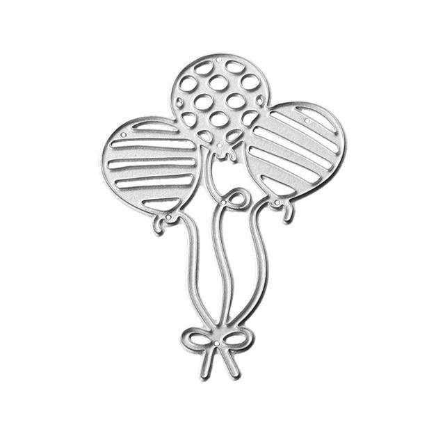 Gowing Craft metalowe matryce do cięcia stali 2019 nowe trzy balony wzornik do DIY papier do scrapbookingu/karty fotograficzne szablony do wytłaczania