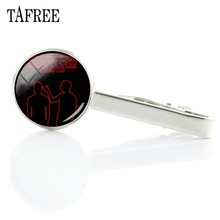 TAFREE Twenty One Pilots Tie Clips Fashion Unique Glass Cabochon Art Picture Music Band Friendship Jewelry For Men Women TO08(China)