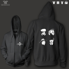 Peaky Blinders orignal design men unisex zip up hoodie heavy hooded sweatershirt 100% cotton outside fleece inside Free Shipping