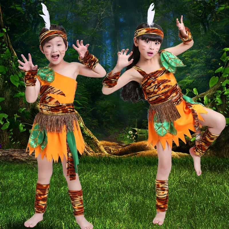 König Von Kinder Rufen Sie Mich Zu Bergsteigen Tanzabnutzung Indischen Nischen Trommel Savage Hunter Bühnenkostüm