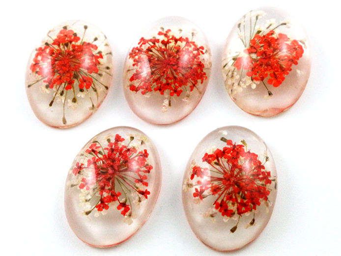 New Fashion 10pcs 18x25mm Red and White Flower Flat Back Resin Flower Cabochons Cameo  G6-41New Fashion 10pcs 18x25mm Red and White Flower Flat Back Resin Flower Cabochons Cameo  G6-41