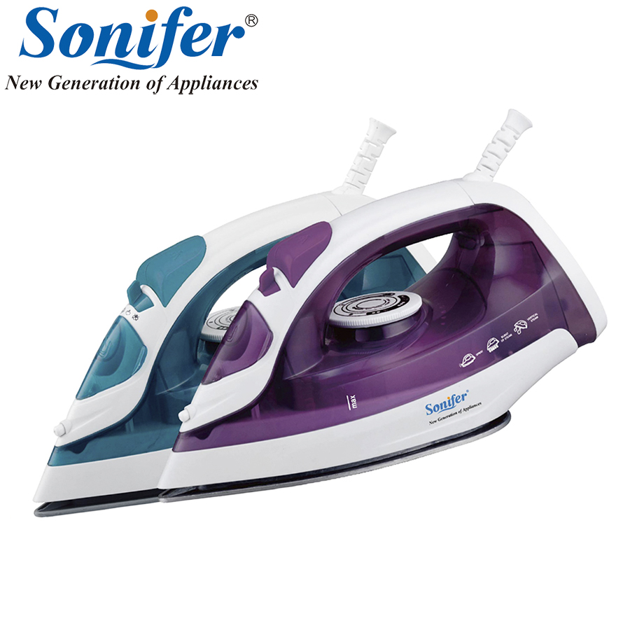 1600W Original Mini Portable Electric Steam Iron For Clothes Three Gears Ceramic solepalte Sonifer 220v 600w 1 2l portable multi cooker mini electric hot pot stainless steel inner electric cooker with steam lattice for students