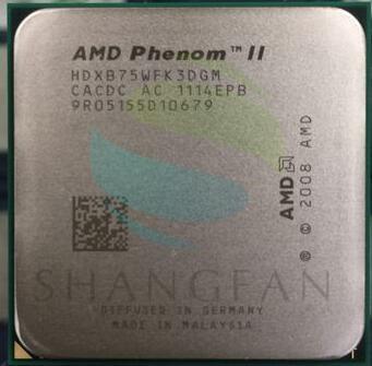 AMD Phenom X3 B75 2.6GHz Triple-Core CPU Processor HDXB75WFK3DGM 95W Socket AM3 938pin