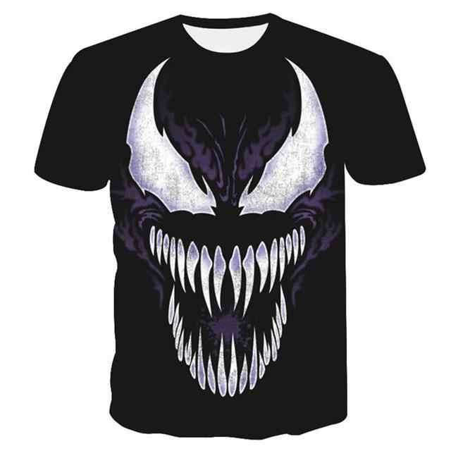 2019 lo más nuevo Lobo 3D estampado Animal Cool divertida camiseta hombres de manga corta verano Tops camiseta Camiseta Hombre moda camiseta male4XL