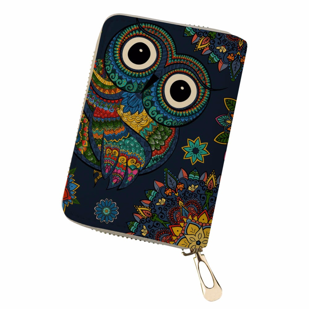 Noisydesigns animal cute retro fresh personality Portable PU Leather Protector Organizer Card Wallet monedero pokemon kaarten ...