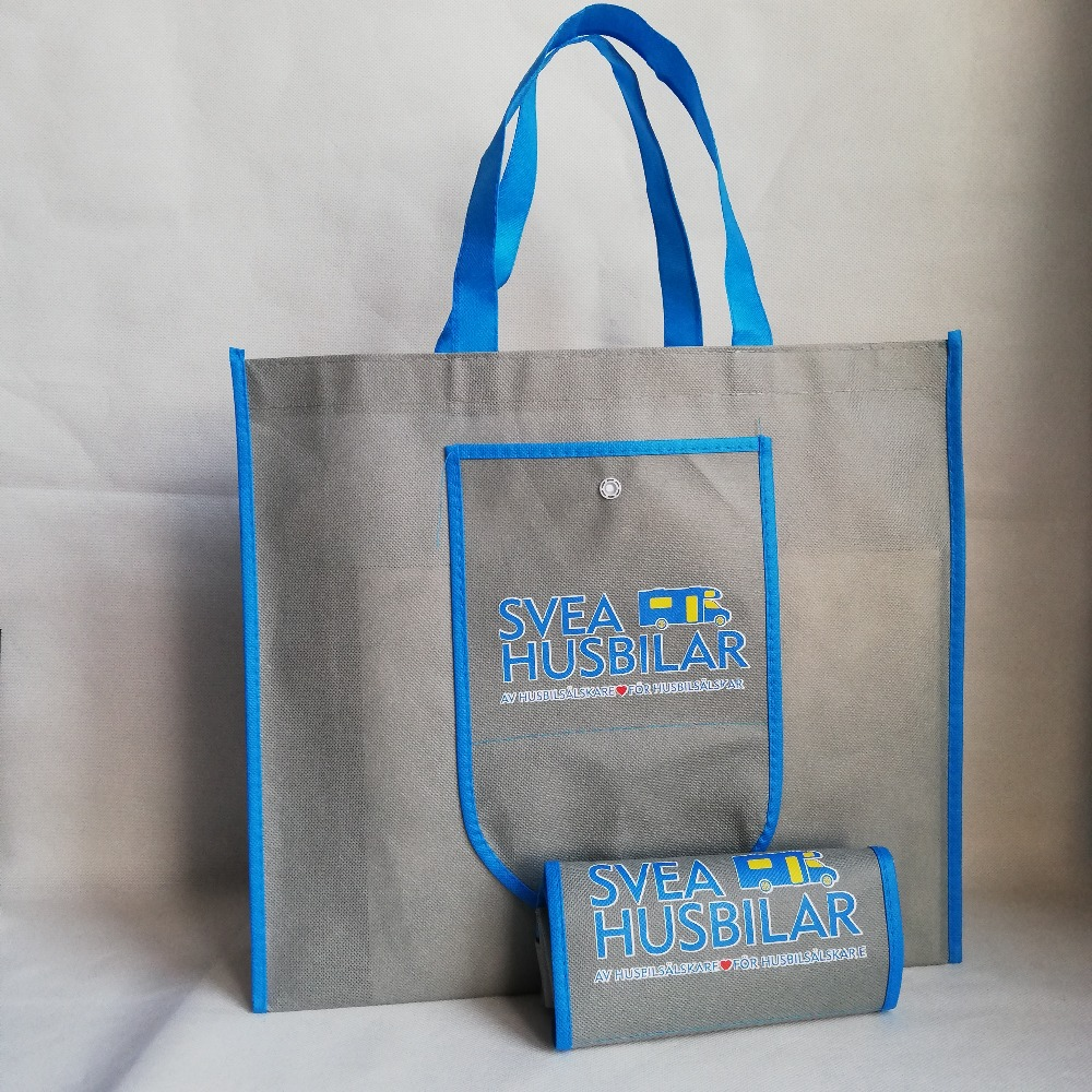 500pcs lot Foldable Non Woven Shopping Bags Tote Multifunctional Reusable Grocery Custom Handbags for Promotion Fair