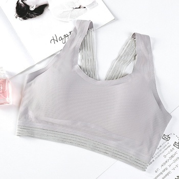 Women Bras Beauty Back Lace Wrapped Chest Slim Underwear Mesh Stitching Sexy Tank Top Camisoles