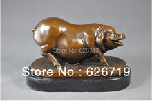 Handmade Good prices boar Handicrafts Fat Pig Bronze Sculpture for Christmas Gifts Home Decor