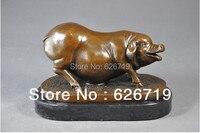 Handmade giá Tốt heo rừng Thủ Công Mỹ Nghệ Fat Pig Bronze Điêu Khắc cho Quà Tặng Giáng Sinh Trang Trí Nội Thất