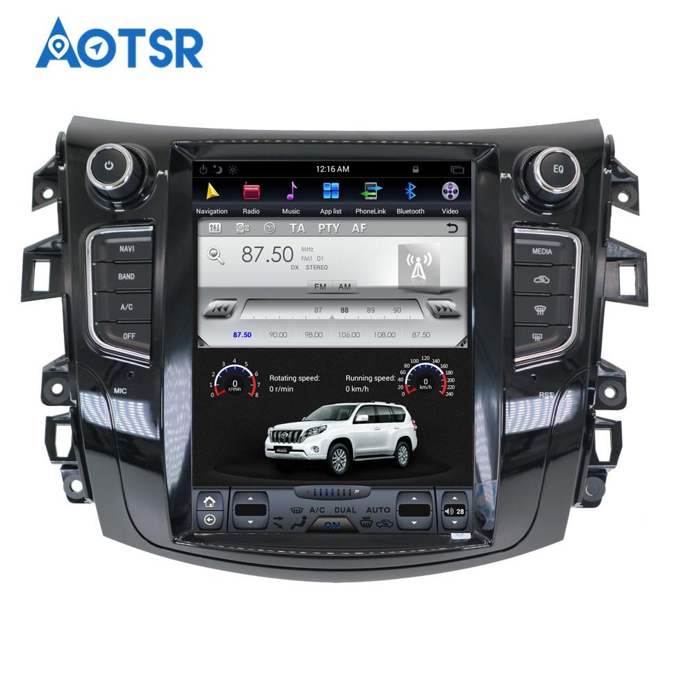 Cheap Android Tesla style Car GPS Navigation no DVD Player For NISSAN NP300 Navara 2014+ multimedia tape radio recorder head unit FM 3