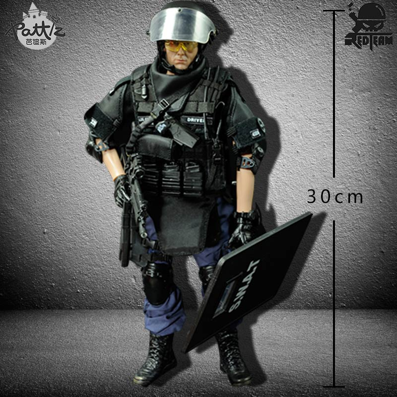 Image 3 - PATTIZ 1/6 Scale Military Solider Figure Toys Set Collectable US Swat Team Model DIY Clothes Doll Action Figure Gun Toy for Boys-in Action & Toy Figures from Toys & Hobbies