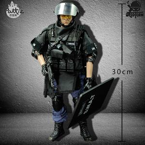 Image 3 - PATTIZ 1/6 Scale Military Solider Figure Toys Set Collectable US Swat Team Model DIY Clothes Doll Action Figure Gun Toy for Boys