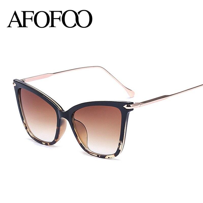 AFOFOO Moda Olho de Gato Mulheres óculos de Sol Marca de Luxo Designer de  Lente Gradiente Óculos de Sol Shades UV400 Óculos de Proteção Óculos Óculos  De Sol ... 5ac9028695