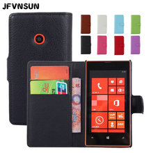 For Lumia 520 Leather Flip Cover Case for Microsoft Nokia Lumia 520 Case Retro Magnetic Wallet Card Slot Phone Bag for Lumia 520