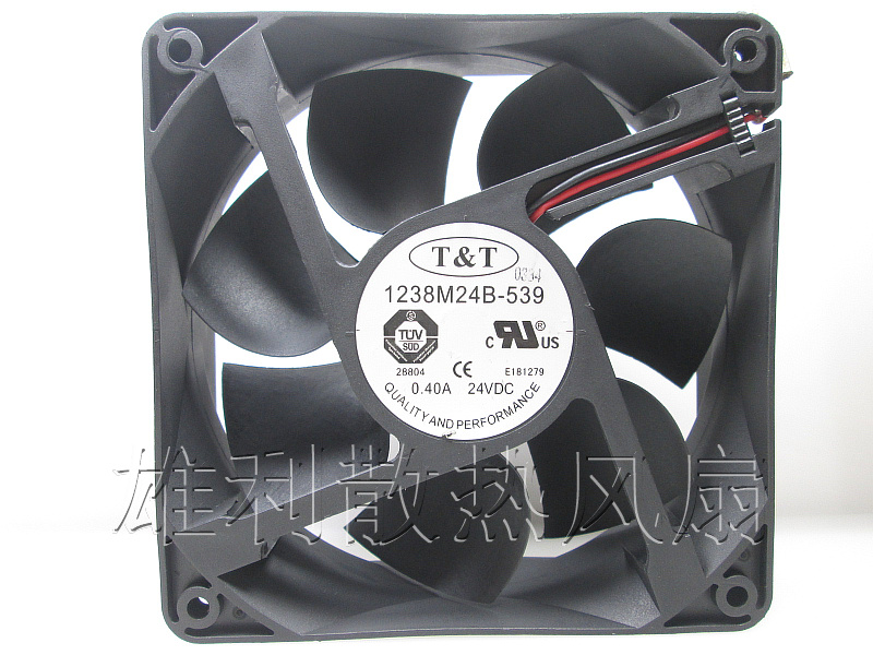 Free Delivery.1238M24B-539 24V 0.40A 12CM 12038 Inverter dedicated cooling fan new original wfb1224he broo 12038 12cm 24v 0 50a 3 wire inverter fan