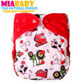 Miababy 1 pcs reusable, washable,waterproof & breathable,fit 3-15kg,cloth diaper cover,cloth diaper