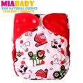 Miababy 1 unids reutilizable, lavable, impermeable y transpirable, ajuste 3-15 kg, cubierta del pañal del paño, pañal de tela