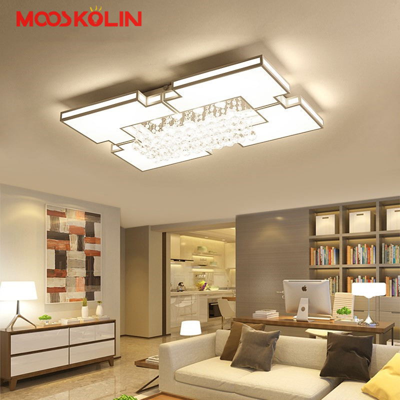 New Modern led Chandelier lighting Ceiling Chandelier For Living Study Room Bedroom Modern Led Ceiling Chandelier lustre lights noosion modern led ceiling lamp for bedroom room black and white color with crystal plafon techo iluminacion lustre de plafond