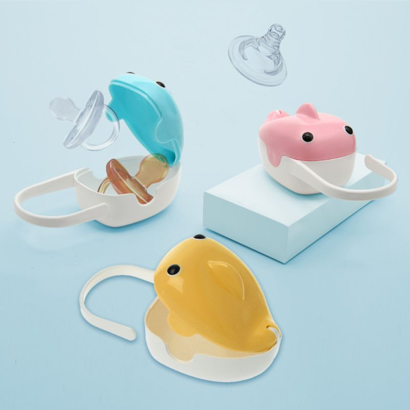 Baby Infant Pacifier Nipple Travel Case Little Cute Apple Shape Storage Box