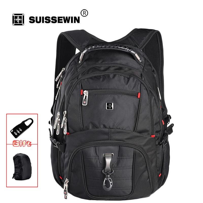 Swissgear Laptop Backpack Men's Travel Backpack Waterproof Nylon School Bags for Teenagers Male Bag SW8112