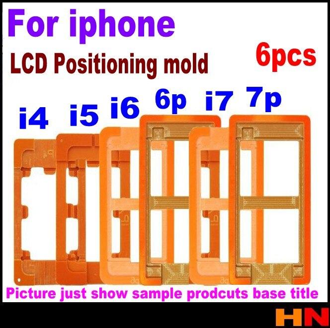 imágenes para 6 unids Para iphone 4 5c 4S 5 5S 6 6 s 7 además de Remodelación LCD UV LOCA Encolado Caja Exterior de Cristal Del Molde Del Molde reemplazo