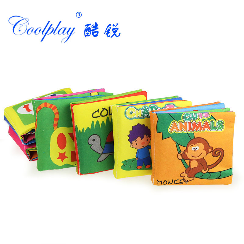 Baby Book 6PCS Soft Cloth Books For Babies Educational Toys Stroller Rattle Mobiles Toy For Newborn Crib Infant Book 0-12 Months