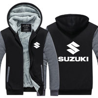 AILOOGE 2019 New Man Coat Casual Wool Liner Fleece Suzuki Sweatshirts Motorcycle Suzuki Hoodies Jacket Winter Men Pullover