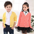 Cardigan Coat Baby Knitted Sweater Children Meisjes Trui Fashion Girls Sweaters Summer Pink Cotton Cardigan Girls Boys 70J100