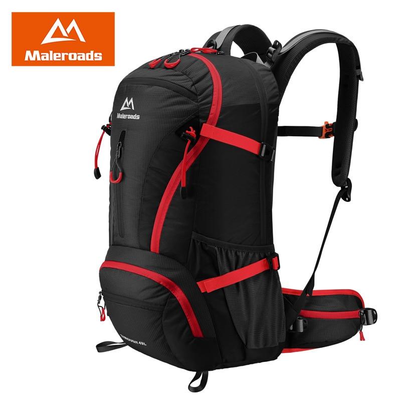 Maleroads 40L Travel Backpack Trekking Rucksack Camp Hike Bag Men Women Backpack Climb Outdoor Sports Backpack