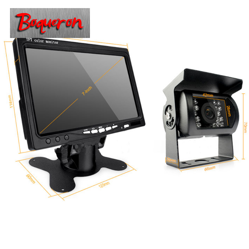 2018 Truck Van Trailer Buses Car Rear View Camera wired Wireless IR Night Vision Kit 7 TFT LCD Monitor High Solution 420 TVL