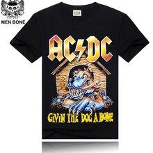 [Men bone] paragraph 9 cartoon rock crime men t-shirts AC DC hip hop fashion heavy metal t shirt
