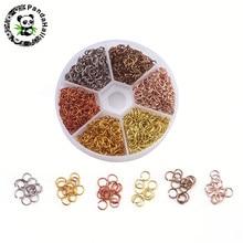 6 Colors Aluminum Wire Open Jump Rings, Mixed Color, 6x0.8mm; about 180pcs/color, 1080pcs/box