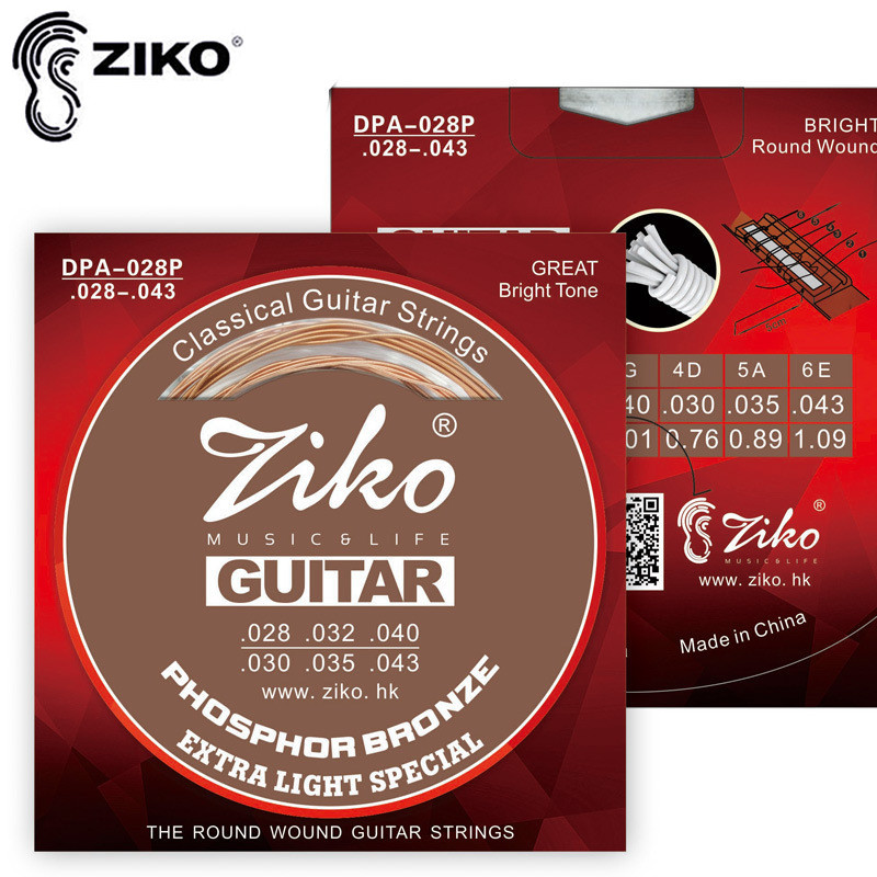 ziko dpa 028 043 classical guitar strings nylon strings for acoustic guitar accessories parts. Black Bedroom Furniture Sets. Home Design Ideas