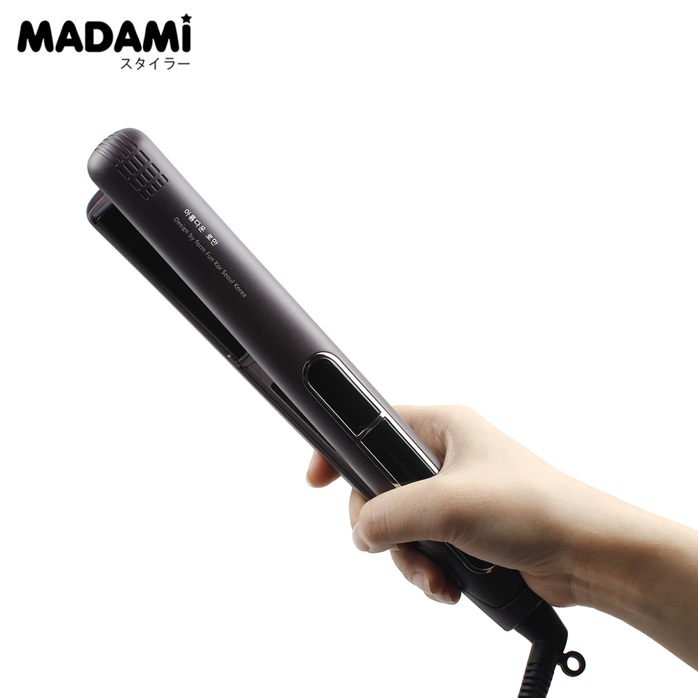 445F LCD Digital Hair Flat Iron Ceramic MCH Fast Heating Hair Straightener High-end Professional Hair Styling Tools infrared flat iron hair straightener mch fast heating dual voltage ceramic plates lcd display flat hair straightener irons