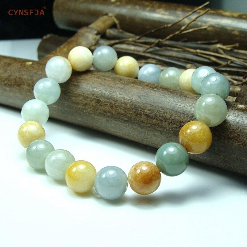 Myanmar Emerald Bracelets Women Bangles Bracelet Beads Jade Certified Natural A Grade Burmese Jadeite Colourful High Quality